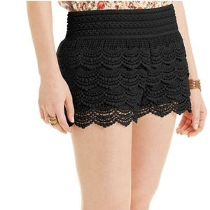 American Rag Ruffle Lace Shorts Black Med